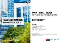 Mazars International Tax Conference 2019 - invitation and agenda