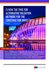 Mazars study - Alternative valuation methods for construction industry